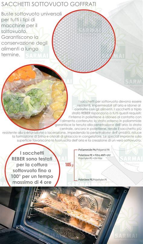 buste sottovuoto per alimenti reber 50 pezzi buste sottovuoto sotto vuoto per alimenti