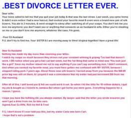 Best Breakup Letter Ever Z Best Divorce Letter Ever Dump A Day