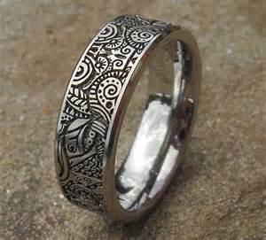Mens Comfort Fit Wedding Bands Tribal 2012 Mayan Aztec Titanium Ring Online In The Uk