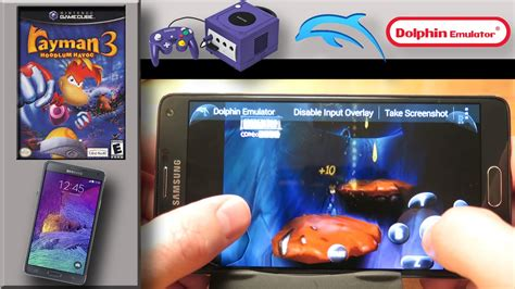 gamecube emulator android nintendo gamecube emulator on samsung galaxy note 4 dolphin emulator rayman 3