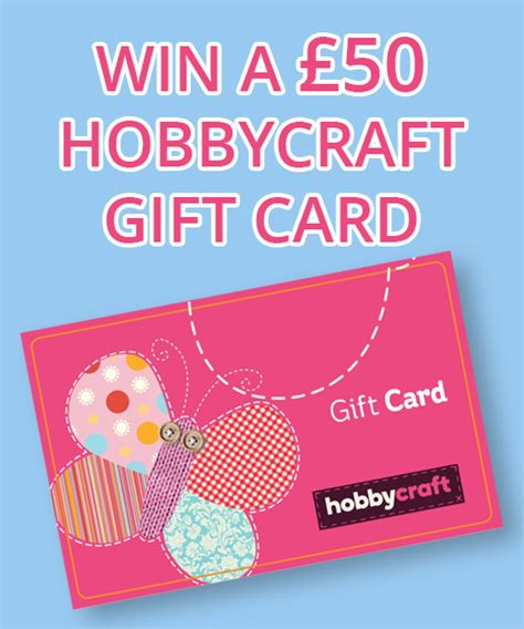 Craft Warehouse Gift Card Balance - competition win a 163 50 hobbycraft gift card dairy diary chat