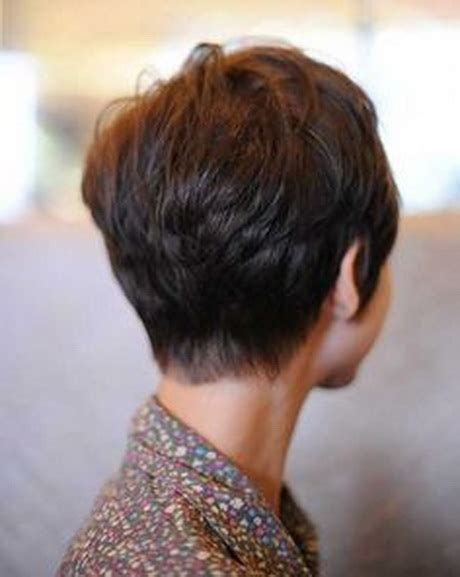 photos of the back of a haircut with a w neckline backs of short haircuts