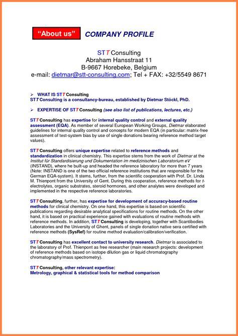 6 sle of company profile company letterhead