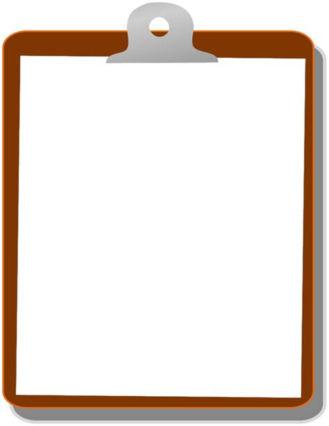 Clipboard Clipart by Clipboard 01 Page Frames School Clipboard 01 Png Html