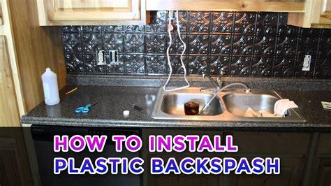 install plastic backspash youtube