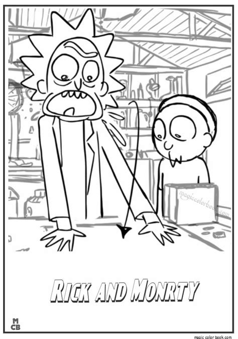 1 rick and morty coloring book books pin by magic color book on rick and morty coloring pages