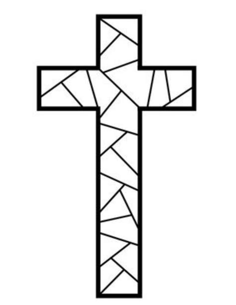 Christian Mosaic Coloring Pages | free printable cross coloring pages coloring mosaics