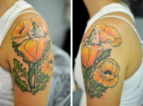 yellow flower tattoo the gallery for gt yellow poppy flower