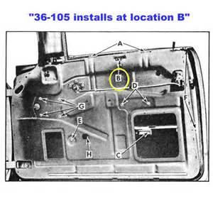 Chevy inner door glass roller guide hardtop or convertible nomad
