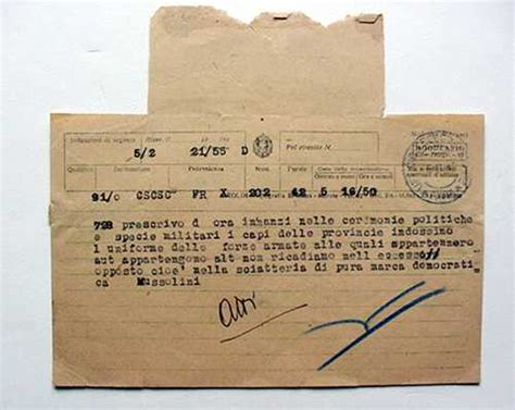 testo telegramma telegramma mussolini provincie