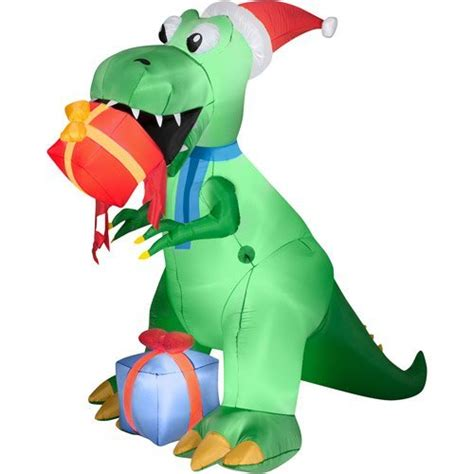 Dinosaur Lawn Decorations Dinosaur Christmas Outdoor Inflatables Christmas Wikii