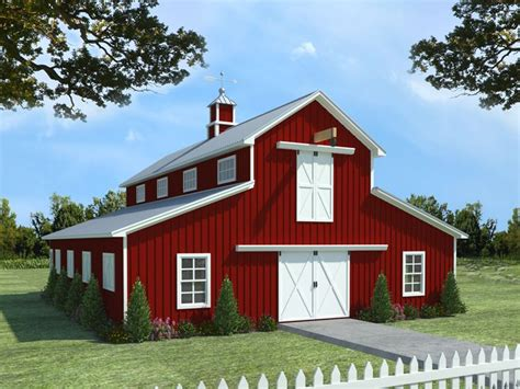 Barn Styles by Barn Plans Horse Barn Plan With Living Quarters 001b