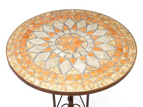 tisch mit fliesen garnitur gartentisch 2 st 252 hle eisen fliesen mosaik garten