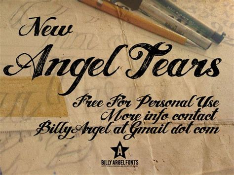 tattoo font billy argel angel tears font by billy argel fontspace