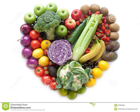 e fruits and vegetables heartshape fruits and vegetables stock photo image of