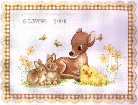 How To View Birth Records For Free Baby Animal Birth Record Cross Stitch Kit By Anchor