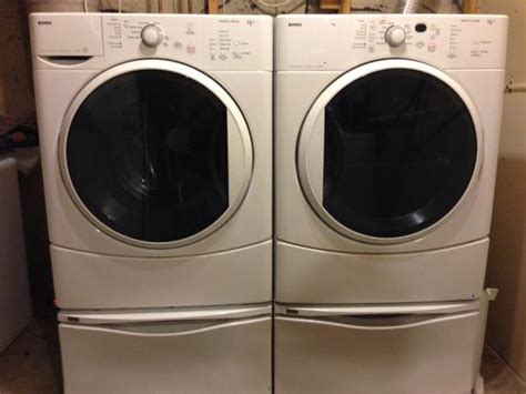 Kenmore Washer And Dryer Pedestals kenmore he2 washer and dryer with pedestals east