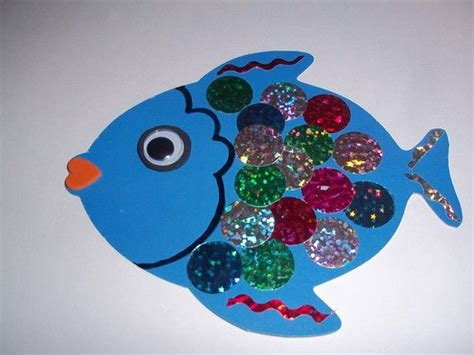 rainbow fish pattern for kindergarten crafts actvities and worksheets for preschool toddler and