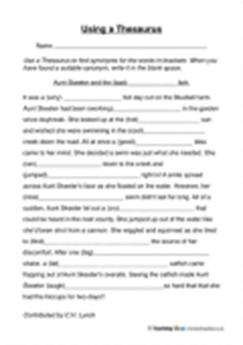 thesaurus confirmation using a thesaurus teaching ideas