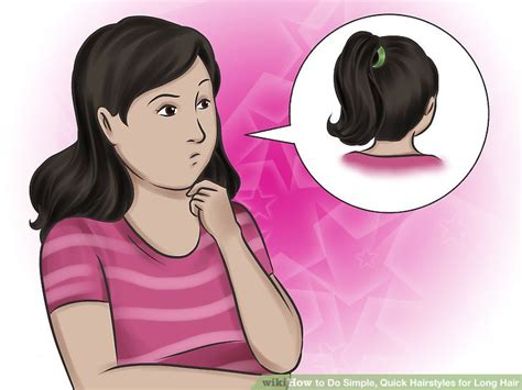 hairstyles for party wikihow 4 ways to do simple quick hairstyles for long hair wikihow