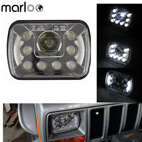 marloo pair   projector led headlights angel eyes