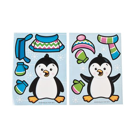 Stiker Pinguin dress a penguin stickers trading