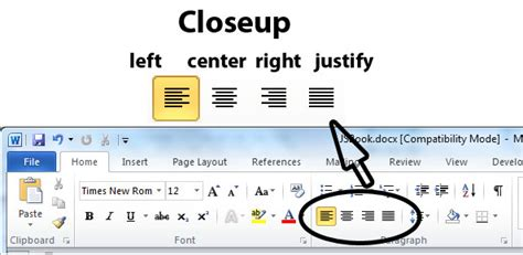 apa format justified or left aligned image gallery word alignment