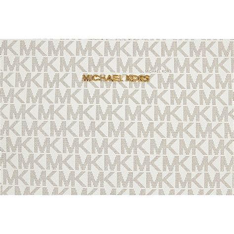 Michael Kors Messenger Sign Vanilla michael kors jet set travel large logo messenger vanilla