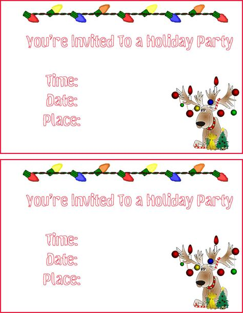 free printable xmas party invitations free holiday party invitations free christmas invitations