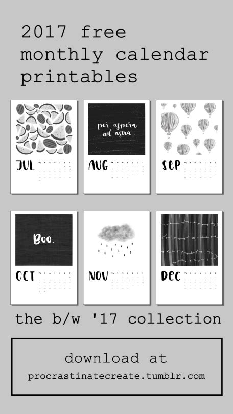 printable calendar tumblr