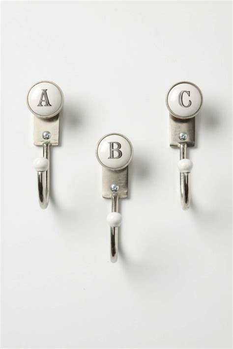 Wall Hooks Letters Personalized Hooks With Initials On