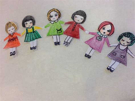 How Do You Make A Paper Doll Chain - december 2013 for a happy day