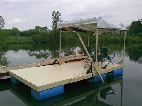diy wooden pontoons cing houseboat tom sawyer raft i think it looks