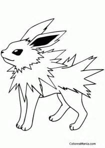 colorear pokemon jolteon 2 pokemon dibujo colorear gratis