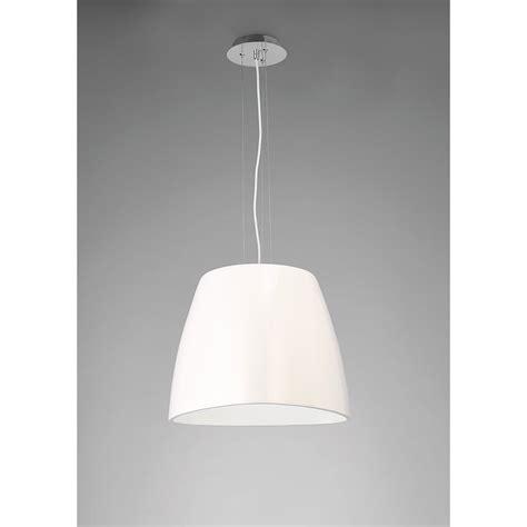 Large White Pendant Light Mantra M4820 Triangle Pendant Large 1 Light Gloss White