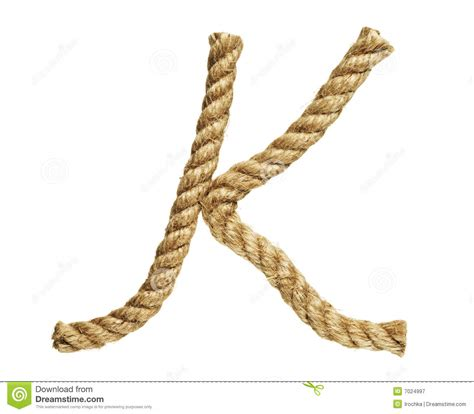 printable rope letters rope forming letter k royalty free stock photography