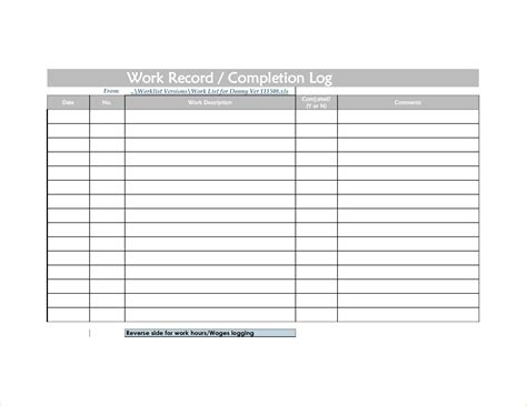 time logs template time log template for excel pdf and