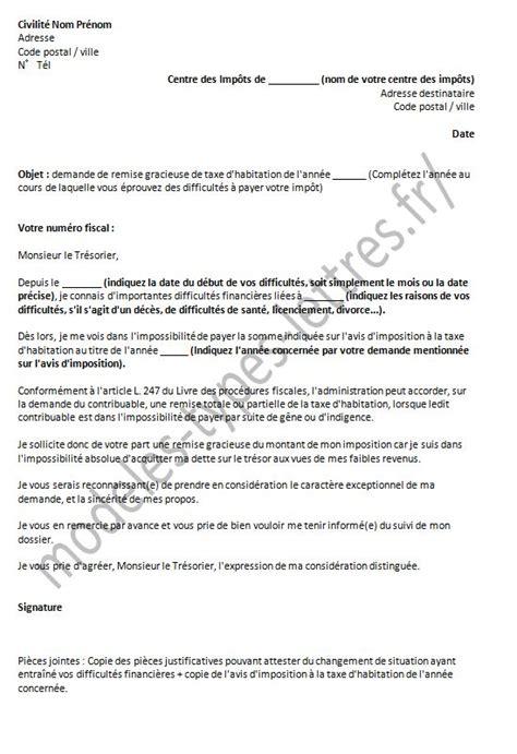 Exemple De Lettre De Demande Gracieuse Mod 232 Les De Lettre De Demande De Remise Gracieuse