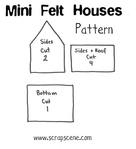 felt house template 219 best fabric houses images on