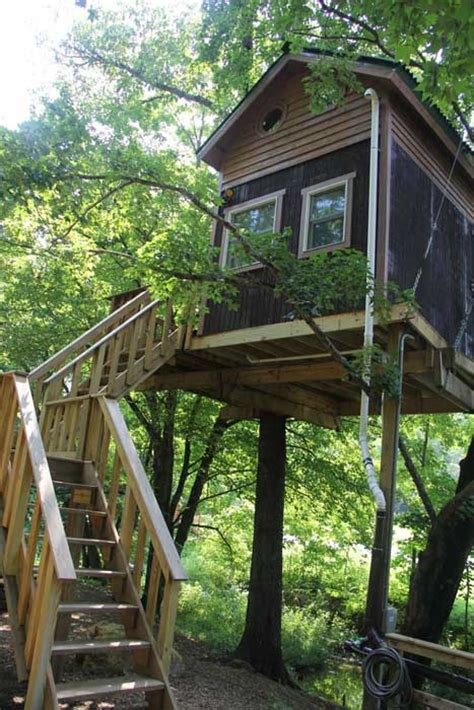 Treehouse Cabins Illinois magestic treehouse cabins on mohican valley landscape design