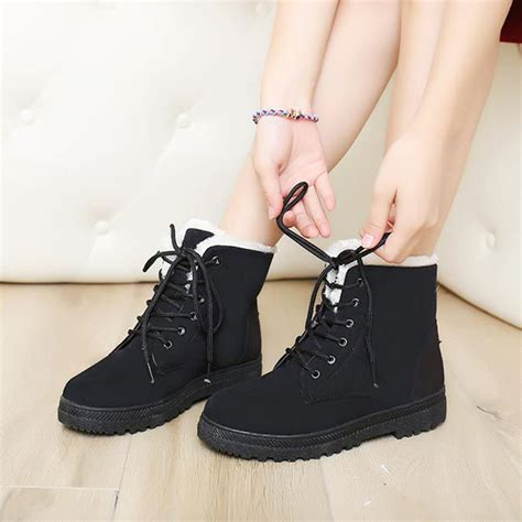 snow boots 35 42 winter ankle boots plus size snow