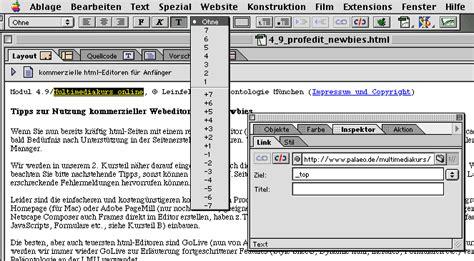 html quellcode layout kommerzielle html editoren f 252 r anf 228 nger