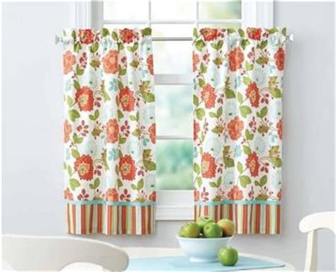 coral and white striped curtains green coral blue white floral stripe kitchen curtains