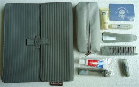 Tas Zipper Zipper Bag Kacamata A4 C amenity airlines original branded dari kabin class