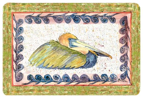 novelty bath rugs bird pelican kitchen or bath mat 20x30 traditional novelty rugs by the store