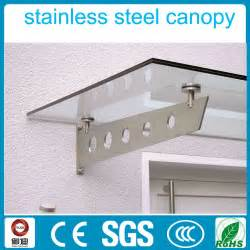 glass awning exterior 316 stainless steel glass awning design for