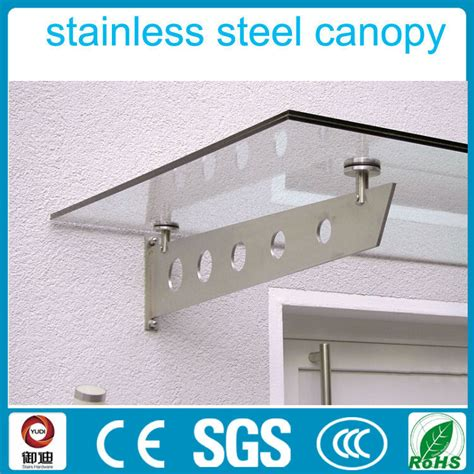 Stainless Steel Awning by Exterior 316 Stainless Steel Glass Awning Design For