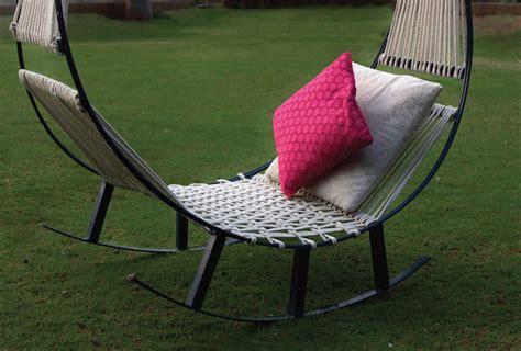 hammock rocking chair design students create an ingenious hybrid of a hammock