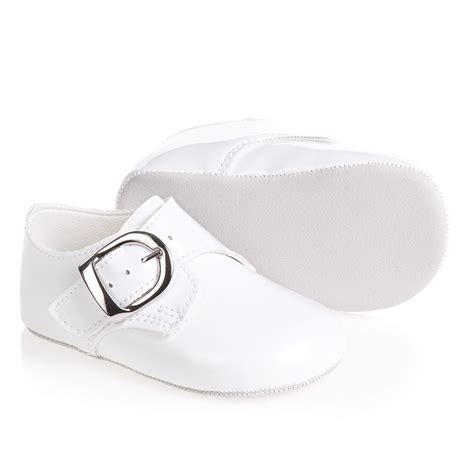 Pre Walker Shoes Baby Boy early days baypods baby boys white patent pre walker