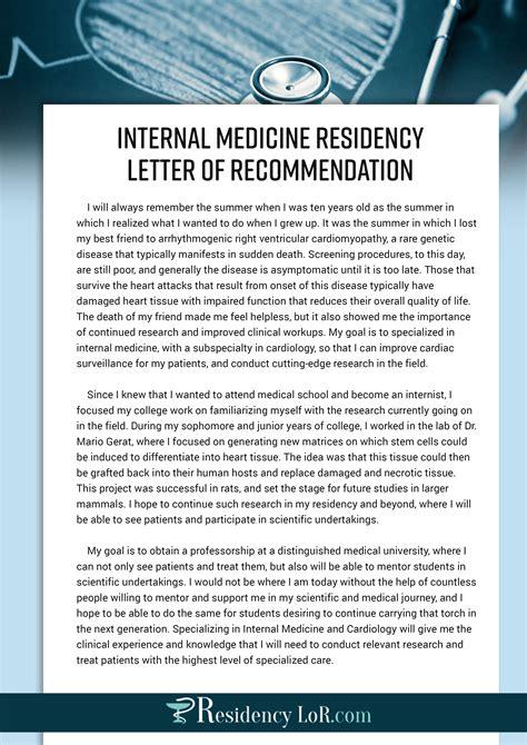 Letter Of Recommendation Bullet Points sle letter of recommendation for medicine